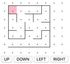 labyrinthe et boutons